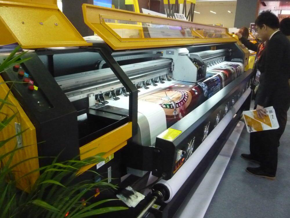 190 square meter 3.2m 10ft Knoica 512i Head Large Format  Solvent Printer  2