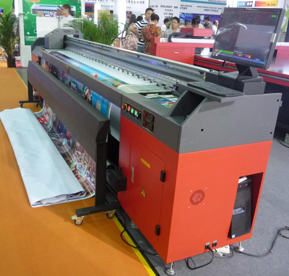 High Speed Leopard Konica 512 i head Digital solvent printer
