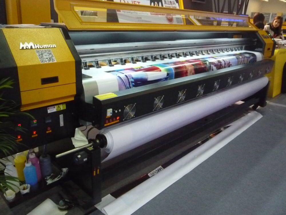 380 square mete 3.2m 10ft Knoica 512i with 8 Heads Solvent Printer  1