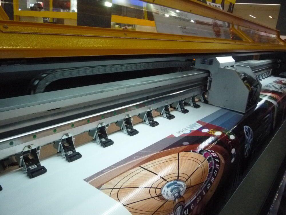 380 square mete 3.2m 10ft Knoica 512i with 8 Heads Solvent Printer  5