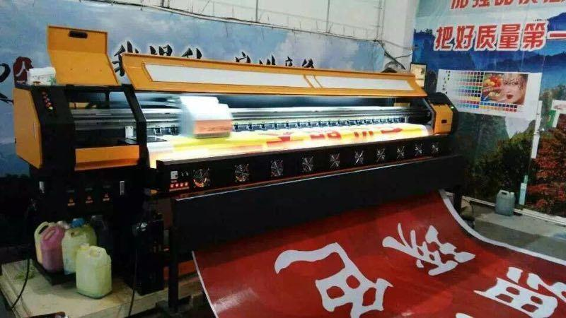 6 color 190 m2 3.2m 10ft Knoica  Head  Solvent Printer for Vinyl Flex Banner 1