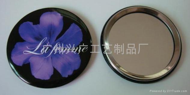 化妆小镜子 小圆镜 胸章镜 马口铁镜 2