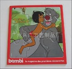 纸板拼图 儿童益智玩具 平面拼图