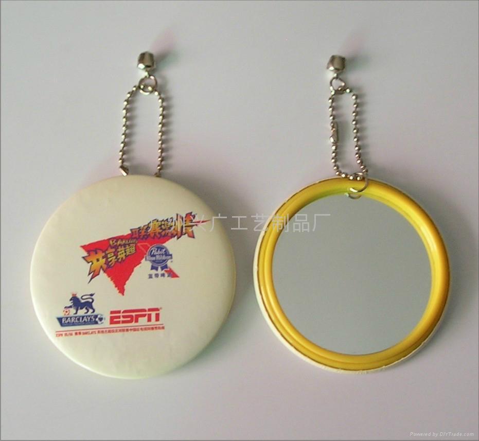 小镜子 胸章镜 马口铁小圆镜 3