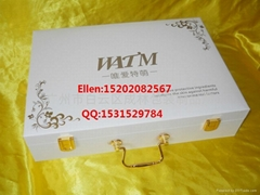 仿皮纹化妆品套装礼盒