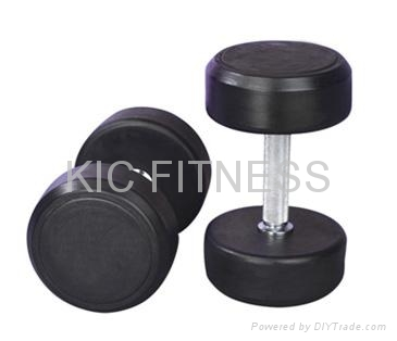 Top Quality Fixed Rubber Coated Dumbbell (A02)