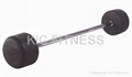 Fixed Straight Rubber Barbell (A10)
