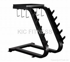 Precor / Free Weight Gym Machine / Handle Rack (D34)