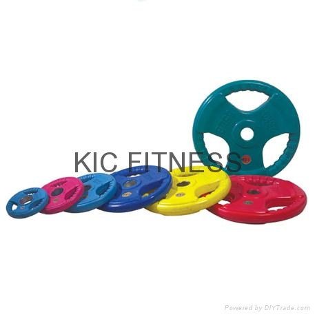 Round Color Rubber Coated Weight Plate (A08)