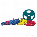 Round Color Rubber Coated Weight Plate