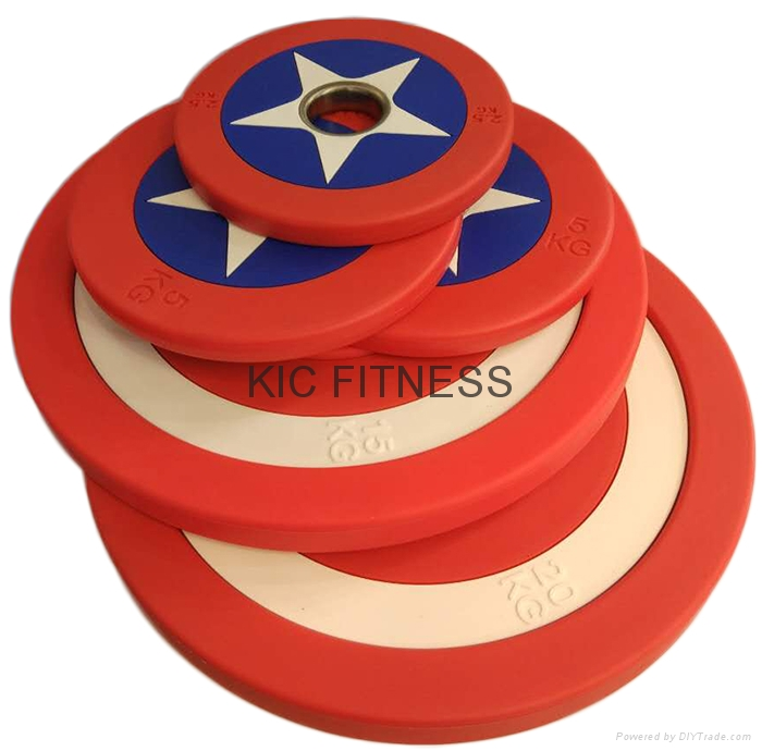 Hot Sales Captain America PU Weight Plate (A08-D)