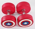 Top Quality Captain America PU Dumbbell