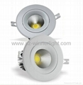 15W Rotatable cob downlights led