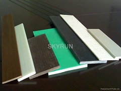 FRP flat bar and fiberglass decking panel