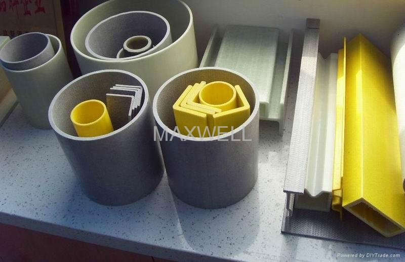 Pultruded fiberglass tube and pultruded FRP shapes 1