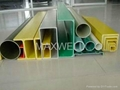 GRP pultrusion profiles and pultruded FRP beam