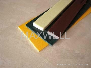 Pultruded fiberglass flat strip and FRP flat bar