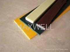 Pultruded fiberglass flat strip and FRP flat bar