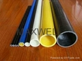 Pultruded fiberglass tube and FRP