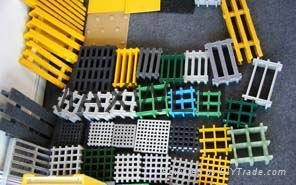 Anti-slip FRP flooring and pultruded FRP grating