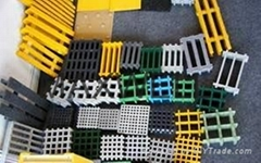 Fiberglass floor grating and molded grating