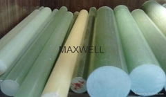 Pultruded FRP epoxy rod and FRP insulation stick