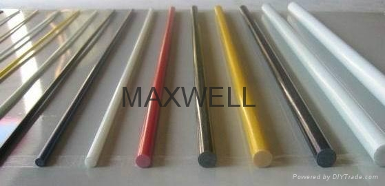 Pultruded fiberglass solid rod and glassfiber frp