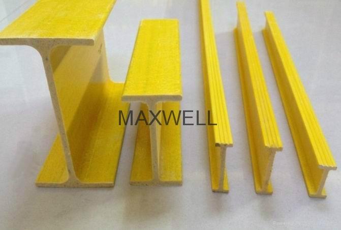 Pultruded FRP H profile and fiberglass I beam 2
