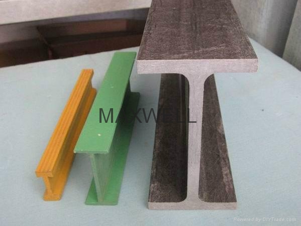 Pultruded FRP I beam and pultrusion H profile