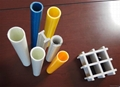 Pultruded glassfiber round tube and FRP
