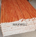 Pultruded fiberglass tube with wood grain