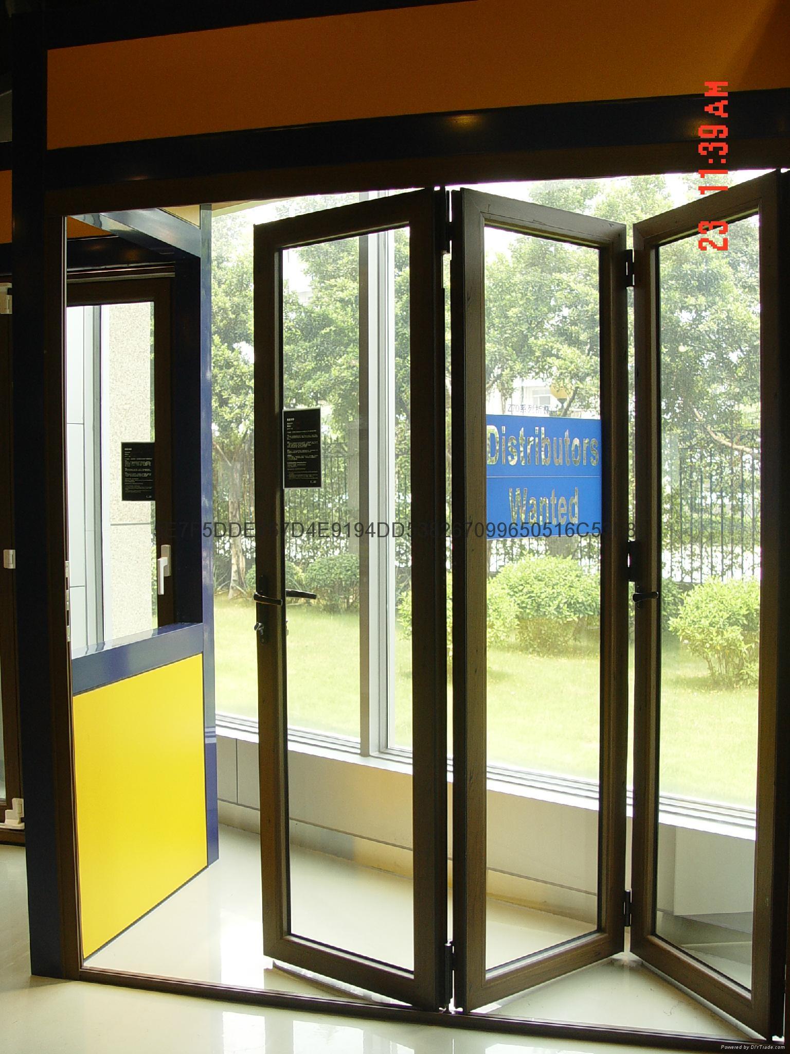 Folding Doors Product : Aluminum bi folding door gal china manufacturer