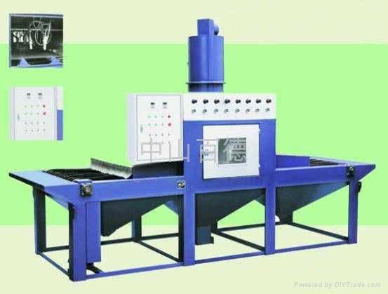 输送式全自动喷砂机 平板件自动喷砂机 通过式自动喷砂流水线 2