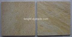 板岩-黄木纹石英板(014)