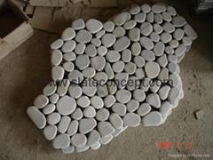 Tumbled slate mesh tile