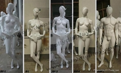 mannequins with abstract
