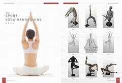 Sport yoga mannequins collection