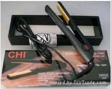 Black ceramic hair straightener