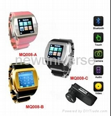 watch mobile phone with bluetooth and camera