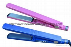 Pink and blue Nano titanium plate babyliss hair straightener 1 1/4