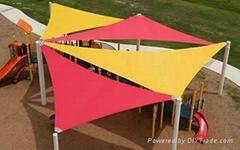 Shade sail for playground