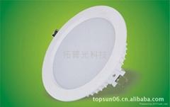 4寸10W白色外殼天花筒燈