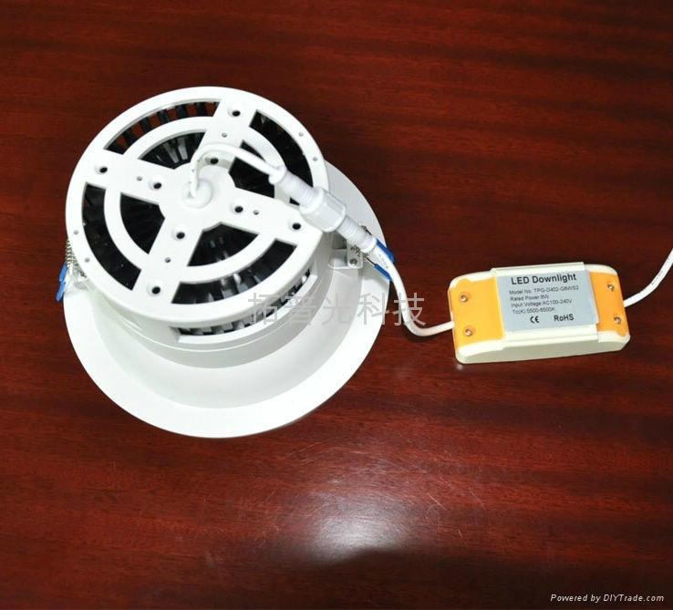 拓普光4寸阻燃PC筒燈 3
