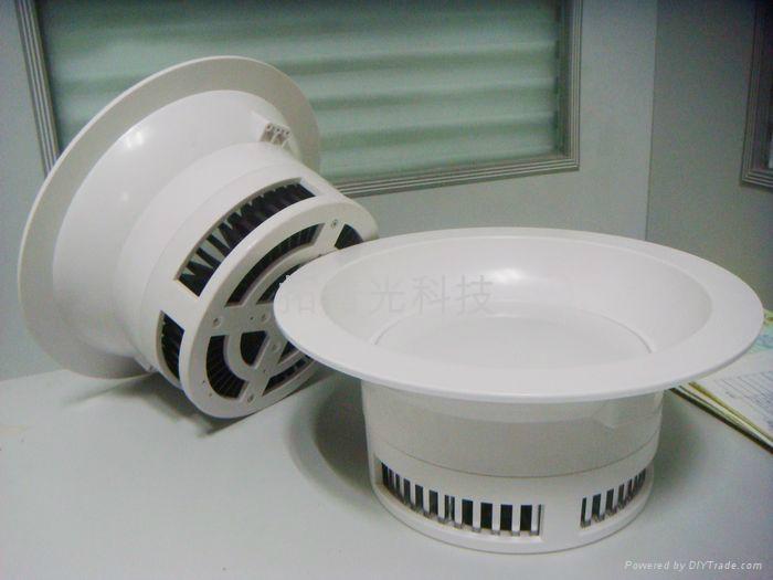 5寸12W防火塑膠筒燈 2