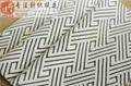 黑白色织几何波纹楼梯提花双面针织面料 3