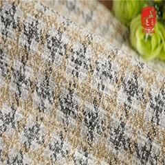 紹興針織提花廠 TC小香風仿粗針色織雙面針織提花面料