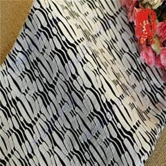 针织提花厂家 TD1644 TR单面黑白色追波浪纹针织提花布