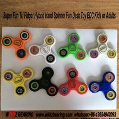 Super Fun Tri Fidget Hybrid Hand Spinner Fun Desk Toy EDC Kids or Adults.