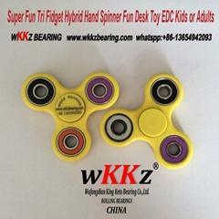 Super Fun Tri Fidget Hybrid Hand Spinner Fun Desk Toy EDC Kids or Adults