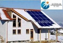 别墅式平板太阳能热水系统